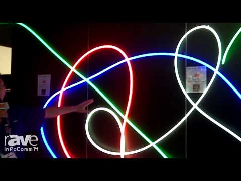 Fiber coupled led neon sign replacement